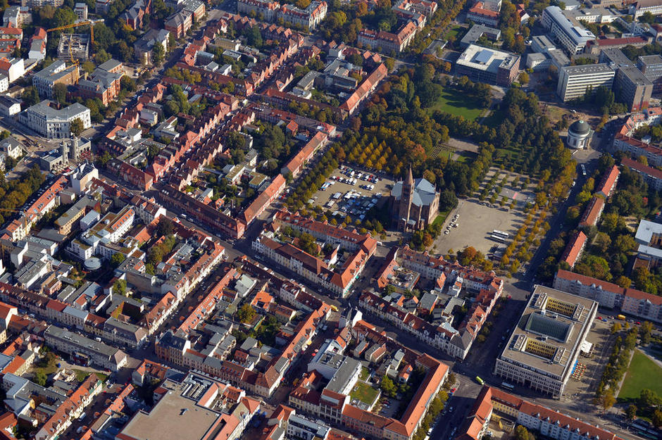 Potsdam Luftaufnahme. Motorflüge Saarmund