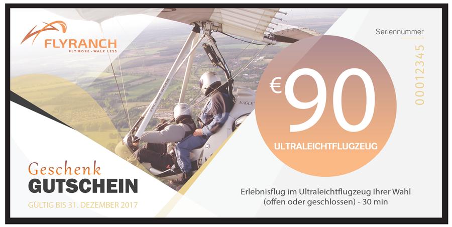 Flyranch Gutschein Erlebnisflug